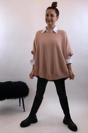 The Charli Batwing Sway Knit Ballet Blush