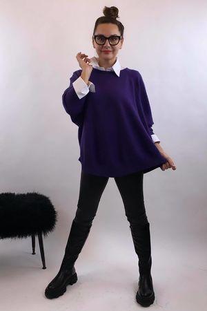 The Charli Batwing Sway Knit Purple Rain