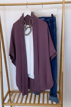 The Charli Circular Cardigan Grape