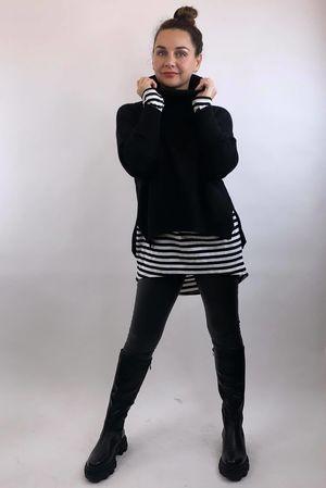 The Charli Cowl Shortie Knit Black