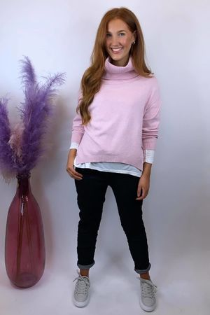 The Charli Cowl Shortie Knit Blush