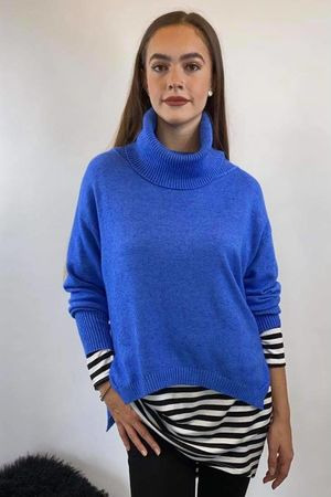 The Charli Cowl Shortie Knit Cobalt