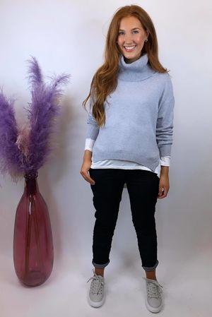 The Charli Cowl Shortie Knit Dove Grey