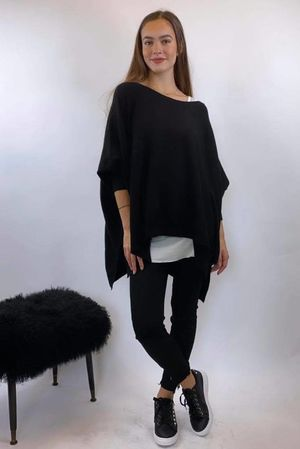 The Charli Oversized Blanket Black