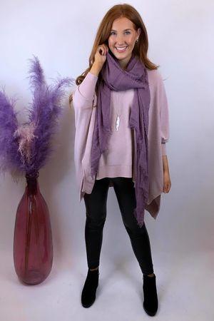 The Charli Oversized Blanket Knit Blush