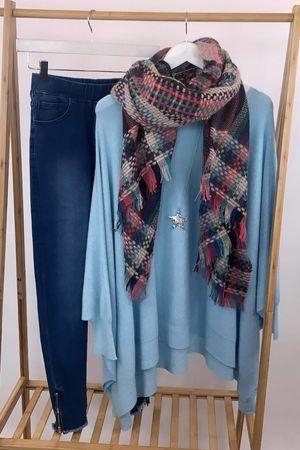 The Charli Oversized Blanket Knit Iceberg Blue