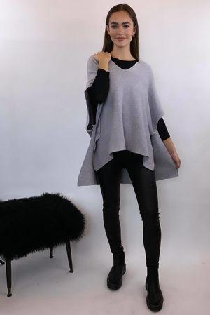 The Charli Oversized Ribby Sleeveless Hoody - Dove Grey