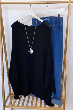 The Charli Oversized Slouchy Knit Black