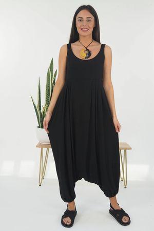 The Classic Harem Jumpsuit Black