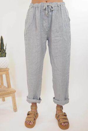 The Classic Linen 7/8 Pants Dove