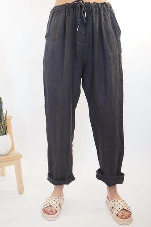 The Classic Linen 7/8 Pant Graphite