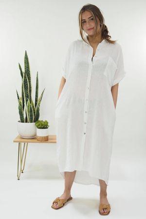 The Classic Shirt Dress White