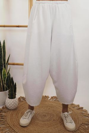 The Cocoon Relaxed Sweat Pant Warm White *Back Soon
