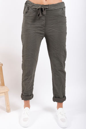 The Crinkle Smart Jogger Khaki
