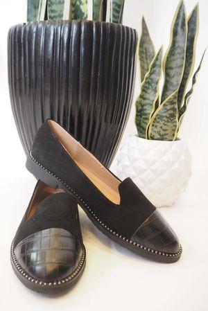 The Croc Toe Loafer Black