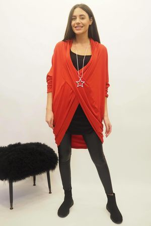 The Crossover Cocoon Top Red