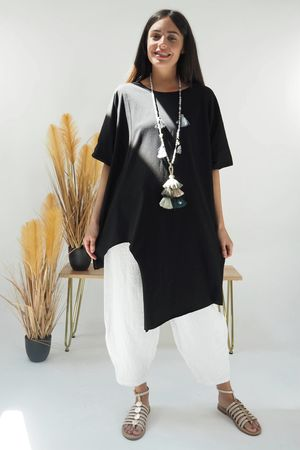 The Cut Out Tee Black
