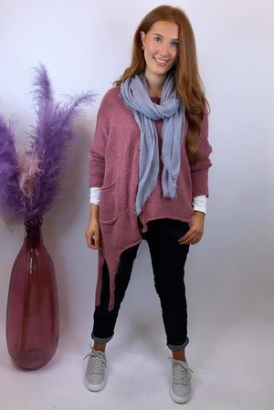 The Dip Side Big Softie Knit Indian Pink
