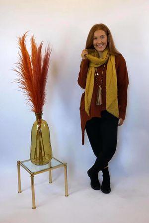 The Dip Side Big Softie Knit Rust