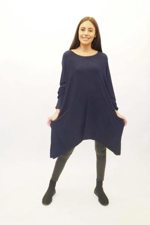 The Dip Side Kate Top Navy