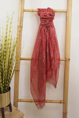 The Dot Dash Scarf Red
