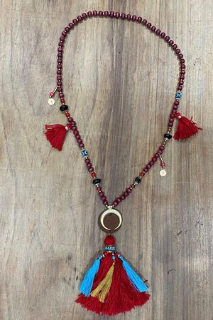 The Dubai Multi Tassel Necklace Rioja