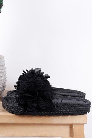 The Eivissa Flower Slider Black