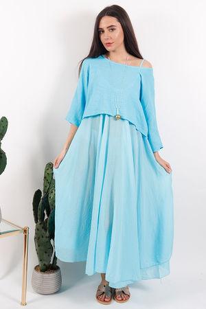 The Eivissa Two Piece Dress Azure