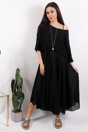 The Eivissa Two Piece Dress Black