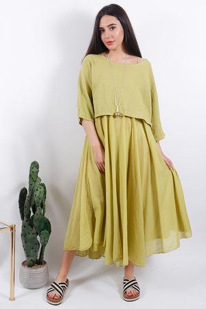 The Eivissa Two Piece Dress Lime