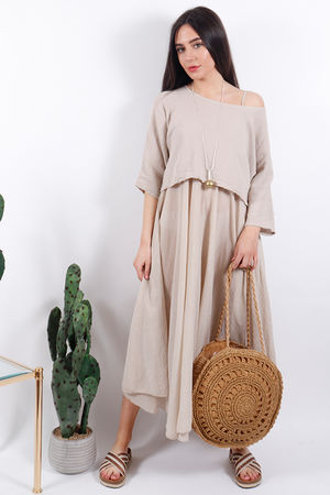 The Eivissa Two Piece Dress Nude