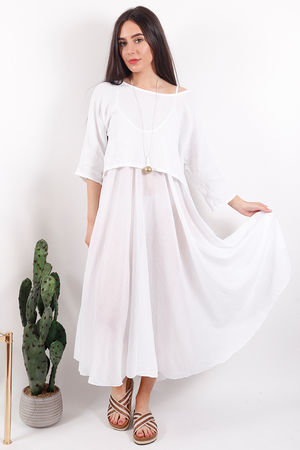 The Two Piece Dress White