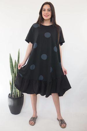 The Eve Mega Dot Dress in Black