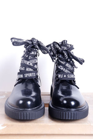 The Fashion Script Boot Black
