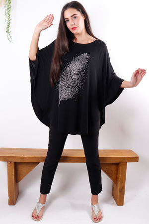 The Feather Top Black