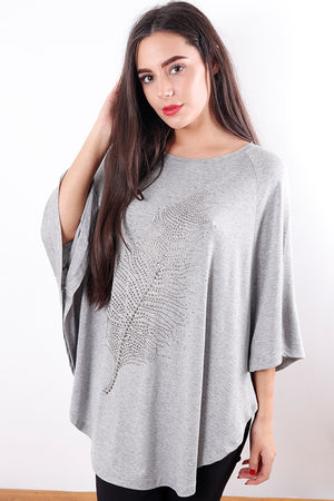 The Feather Top Grey