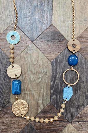 The Fleur Necklace Blue