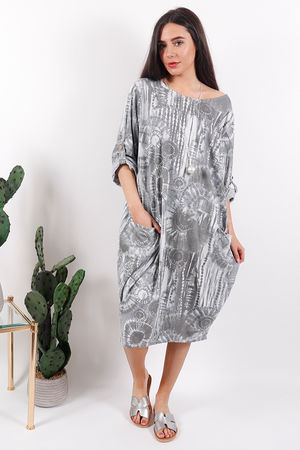 The Fossil Cocoon Dress Dove
