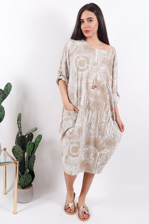 The Fossil Cocoon Dress Taupe