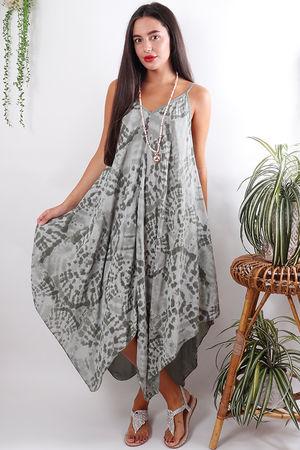 The Fossil Handkerchief Dress Khaki