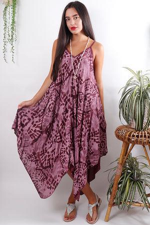 Fossil Handkerchief Dress Mulberry