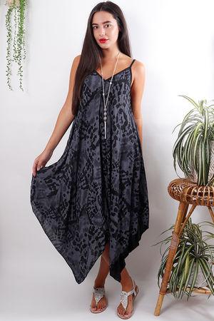 The Fossil Handkerchief Dress Slate