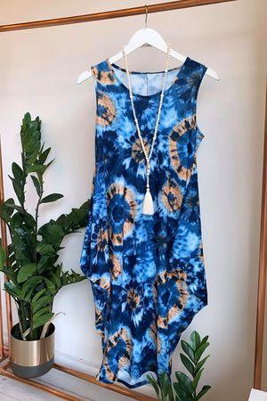 The Fossil Midi Parachute Dress Blues