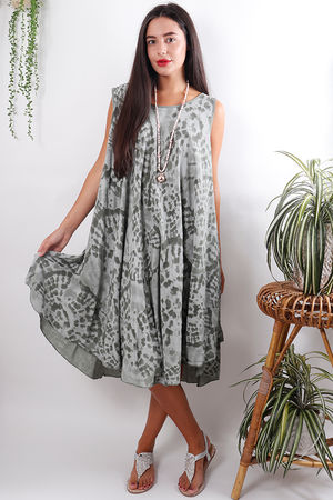 The Fossil Swing Dress Khaki