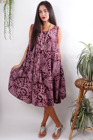 The Fossil Swing Dress Mulberry