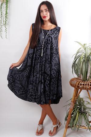 The Fossil Swing Dress Slate