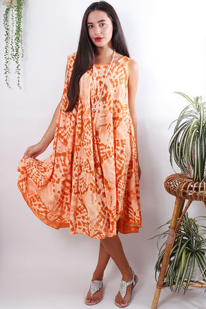 The Fossil Swing Dress Tangerine
