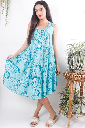 The Fossil Swing Dress Turquoise
