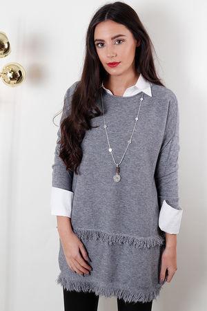 The Fringe Knit Grey