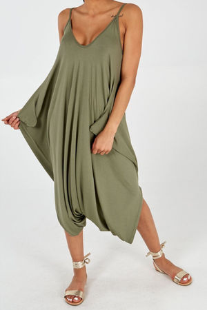 The Genie Jumpsuit Khaki